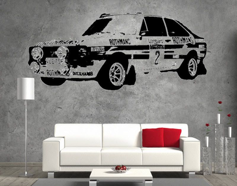 Ford Escort Mk2 Rally Vintage Retro Sticker Wall Decal Boys Bed Room Garage & Ford Escort Mk2 Rally Vintage Retro Sticker Wall Decal Boys Bed Room ...