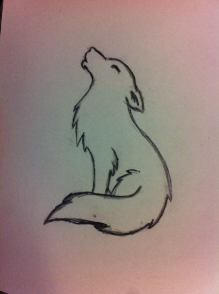 My Little Wolf Doodle Di 2020 Dengan Gambar Ide Menggambar