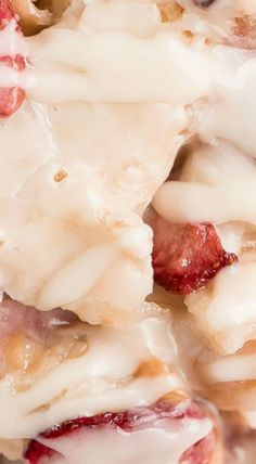 Strawberries and Cream Bread Pudding - Garnish & G