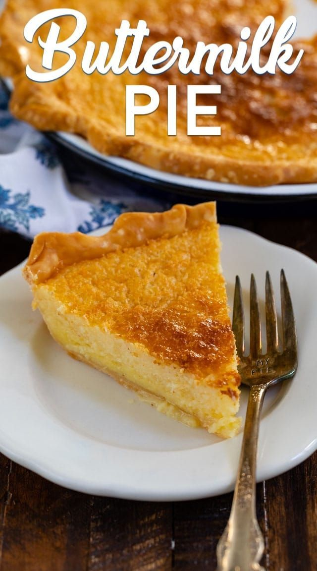 Pie Recipe Buttermilk Pie Recipe Dessert Pie Recipes Chess Pie Recipe