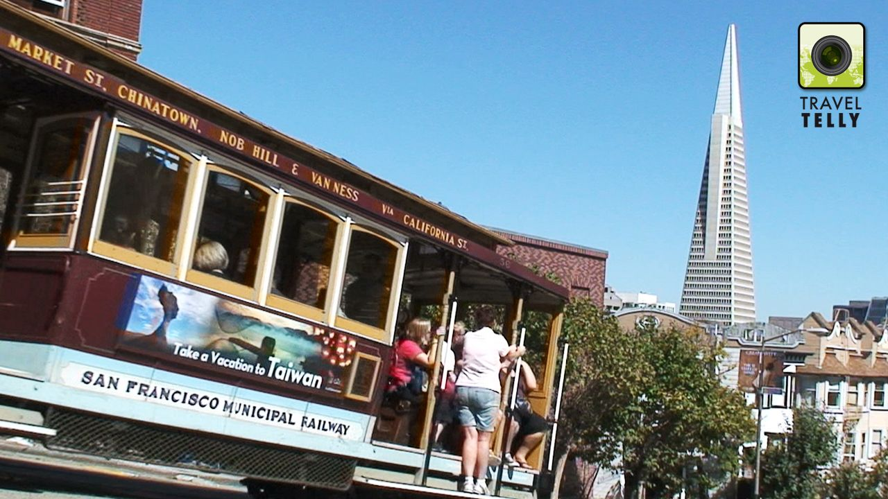 Cable car: San Francisco was build on 50 hills, you need cable cars in this city.