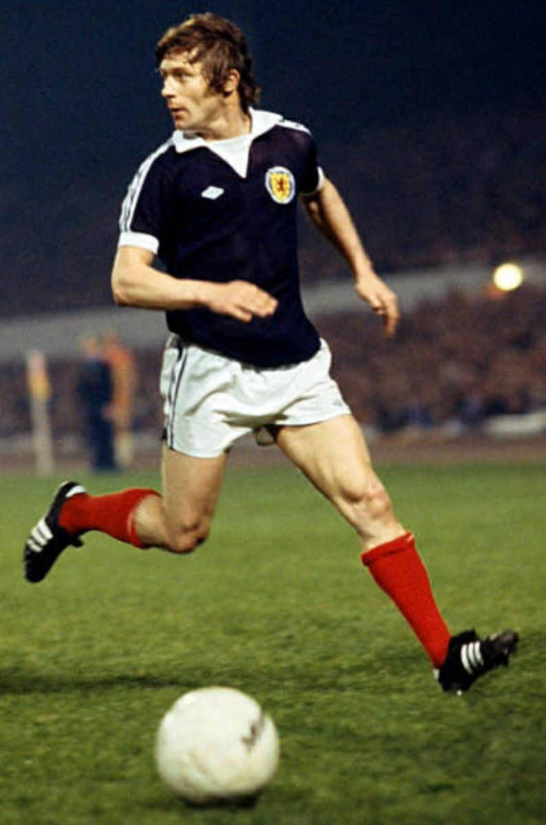 Willie Johnston of Scotland in 1977. Football, Scotland