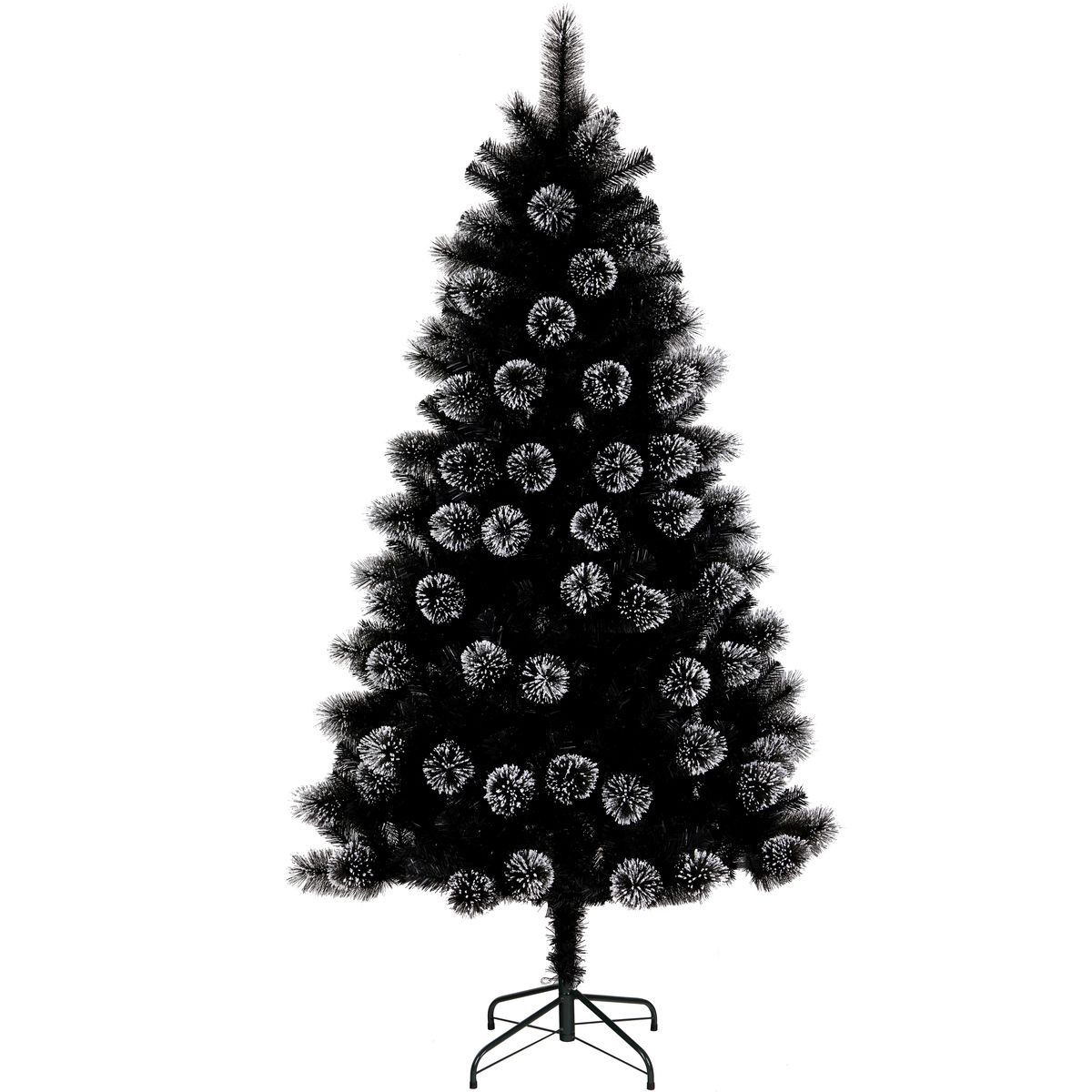 Chrismtas 195cm Bavarian Frosted Tree Black Big W 79 With Images Frosted Christmas Tree Frosted Tree Christmas Cover