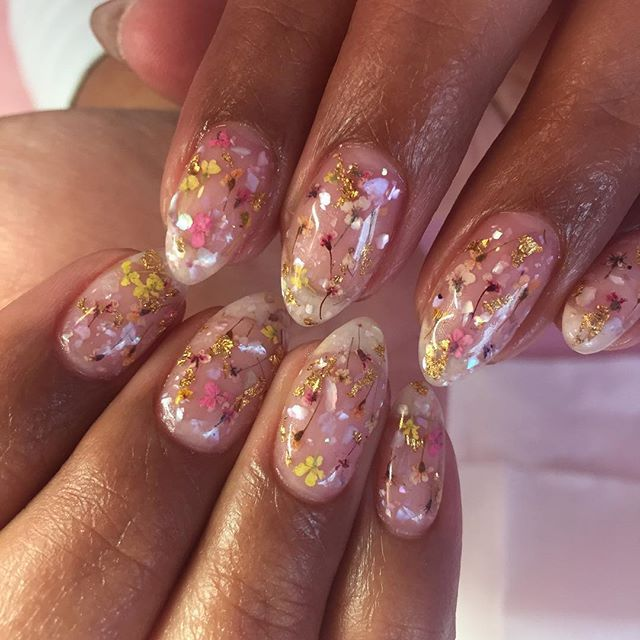 My Signature Pressed Flower Nails Are Ones That Will Suit Any Skin
