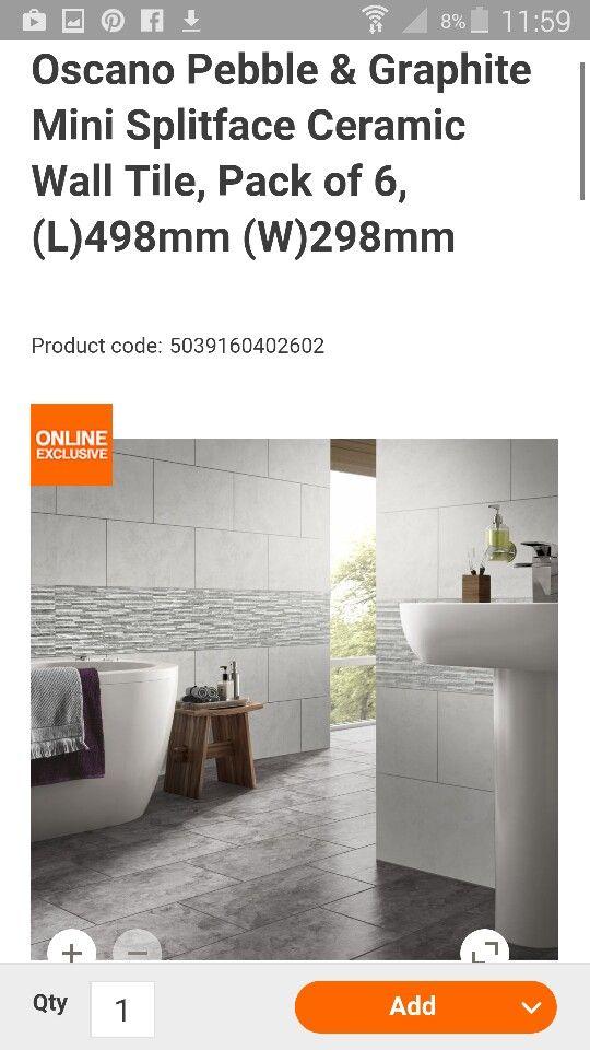 B And Q Oscano Wall Packs Bathtub Bathroom