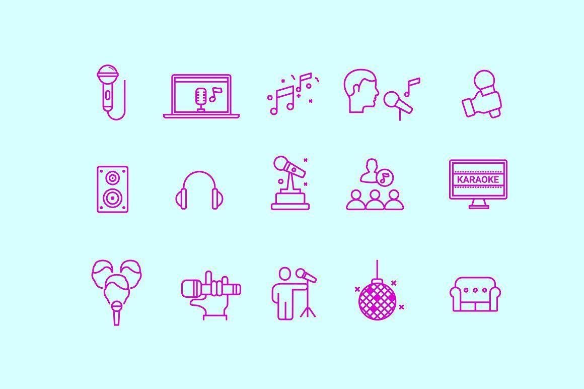 15 Karaoke Icons Karaoke Icon Good Notes
