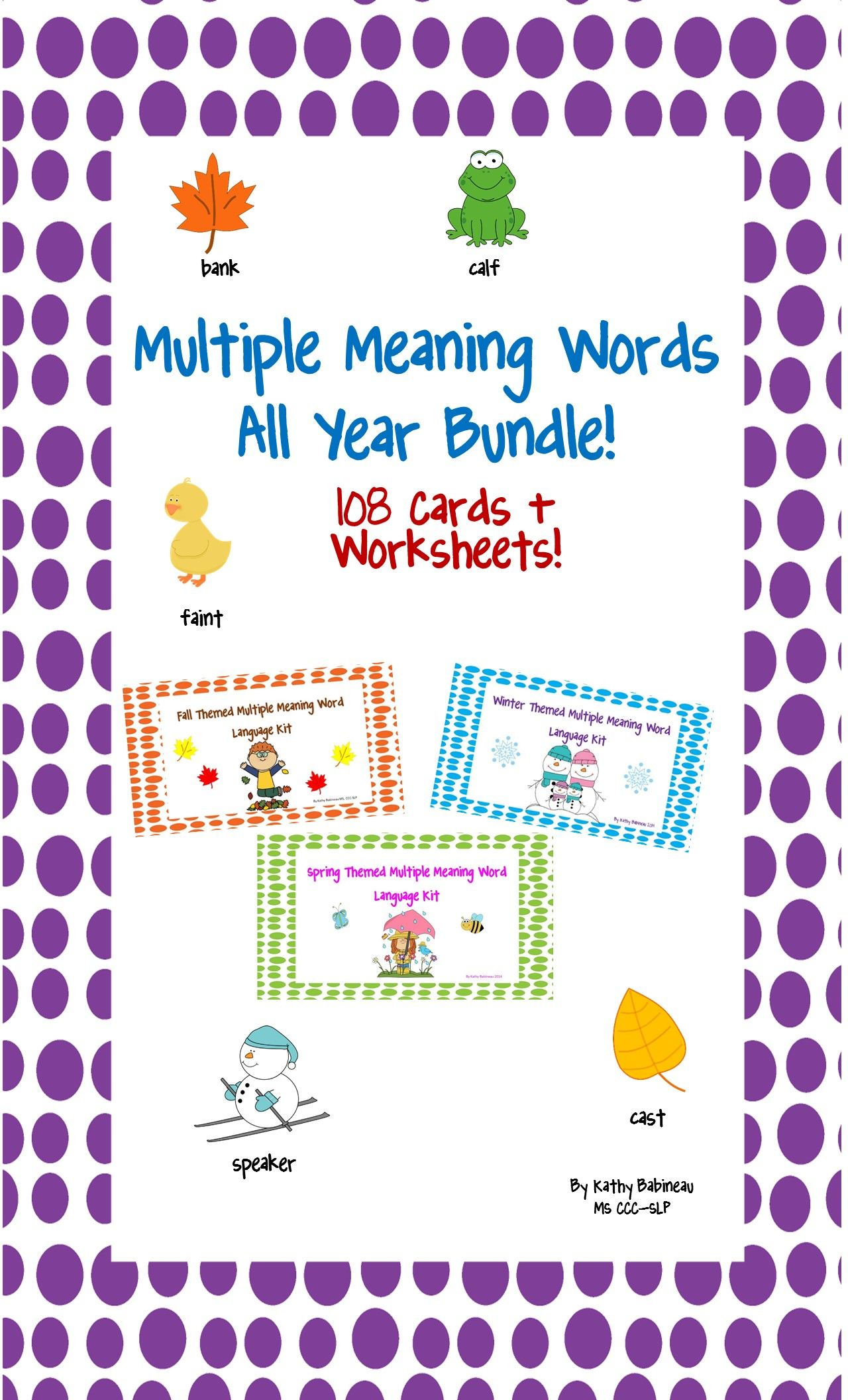 Super Cute Multiple Meaning Words Bundle 108 Colorful Seasonal Cards Worksheets Tpt Multiple Meaning Words Language Arts Lessons Meant To Be [ 2112 x 1280 Pixel ]