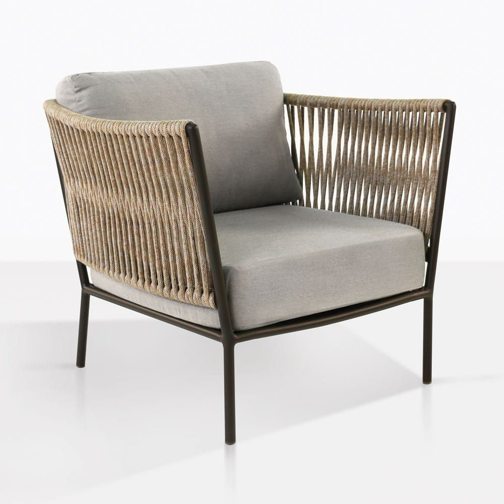 Tessa Rope Chair Angle Grey Outdoor Chairs Relaxing Chair