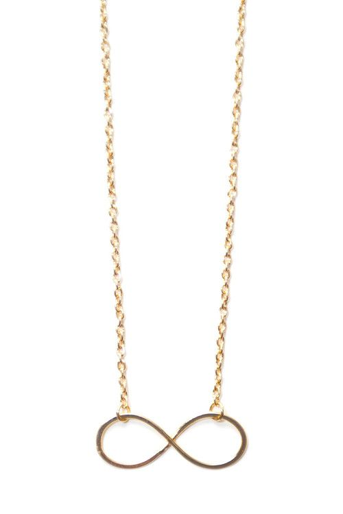 I will love you forever - Infinity Gold Necklace
