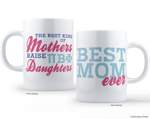 PiPhi Pi Beta Phi Best Mom Sorority Mug by BoutiqueGreek on Etsy