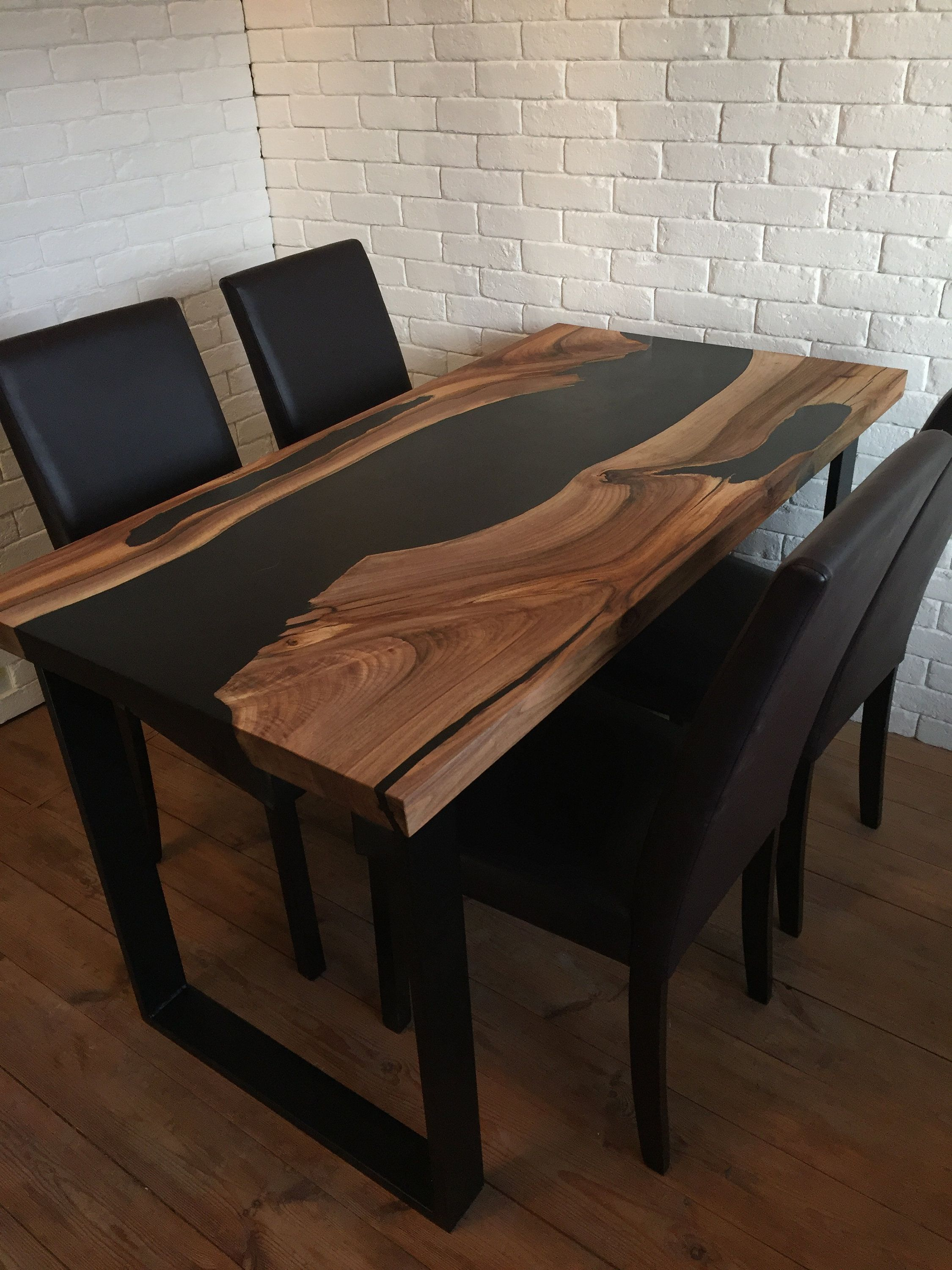 Walnut Wood And Epoxy Resin Table Resin Table Epoxy Resin Table