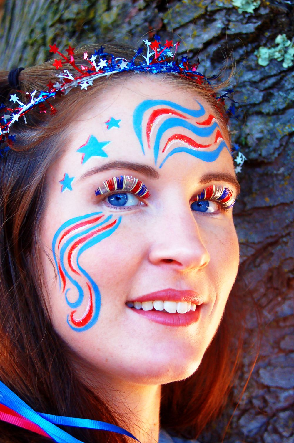 simple 4th of july face painting ideas Google Search