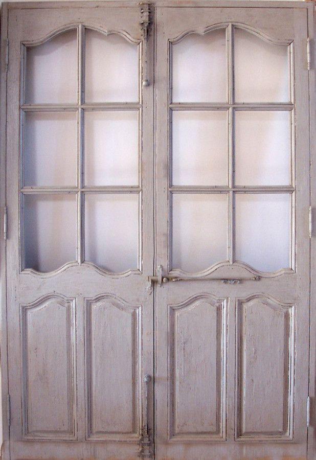 Portes vitrées époque Régence Patine peinture. Portes intérieures ...