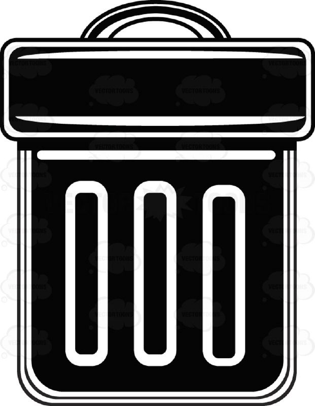 garbage can with lid black and white computer icon cartoon clipart rh pinterest se Laughing Smiley Face Clip Art Funny Smiley Face Clip Art