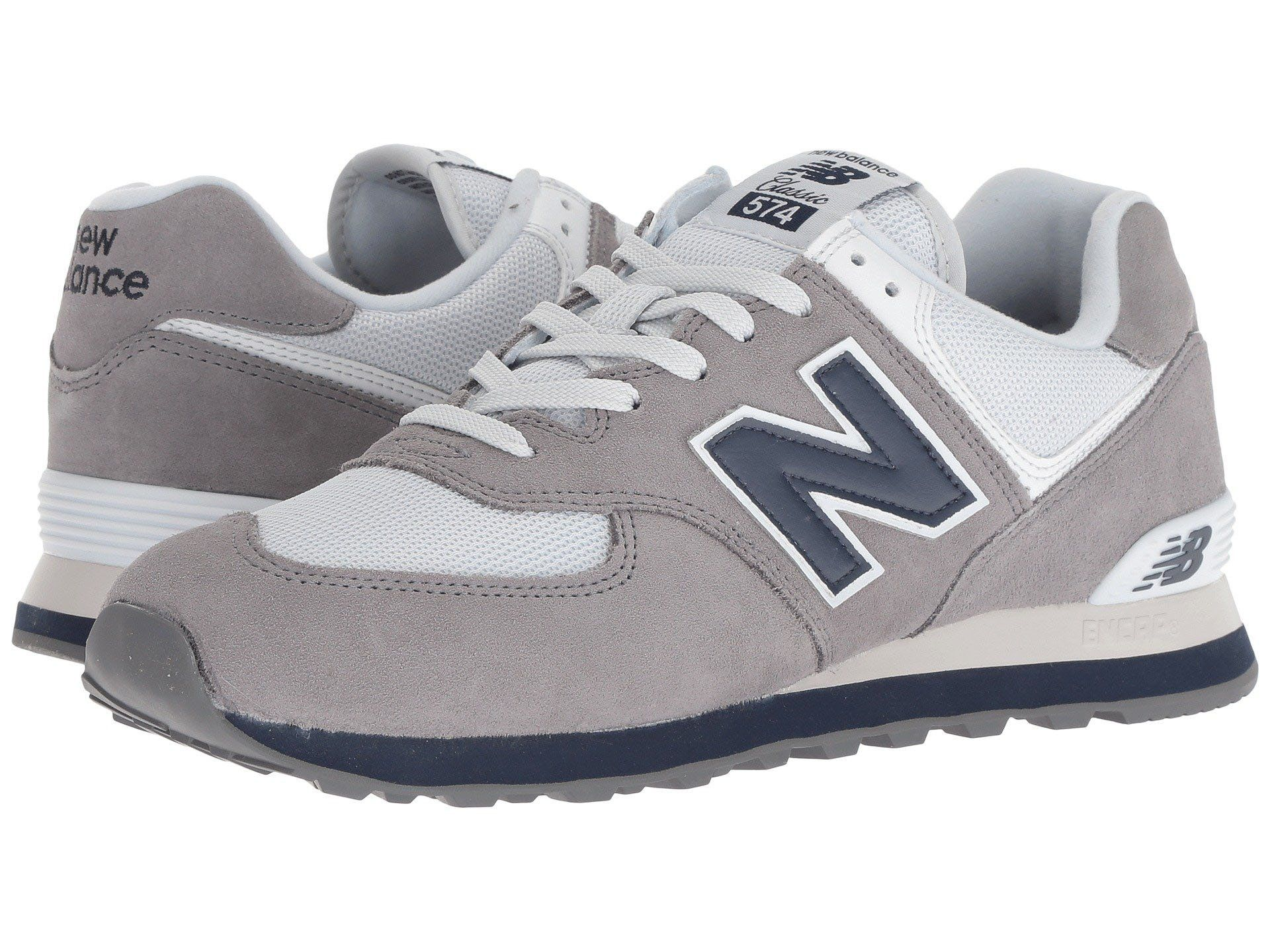 NEW BALANCE 574 Core Plus Men | Gunmetal / Navy (ML574ESD ...