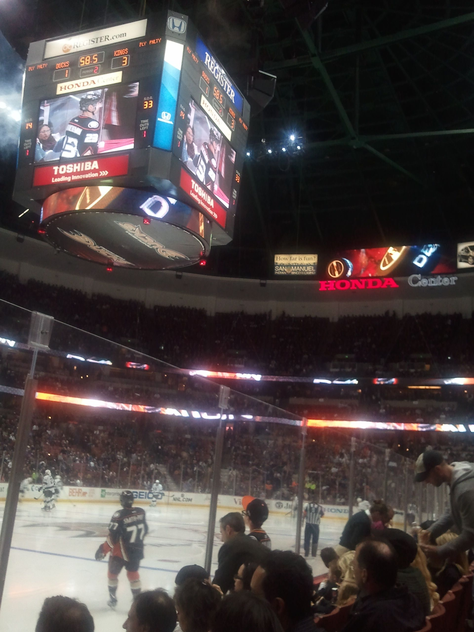 Honda Center   Anaheim, CA March 16, 2012 Los Angeles Kings Vs. Anaheim  Ducks. We Were There U003d)