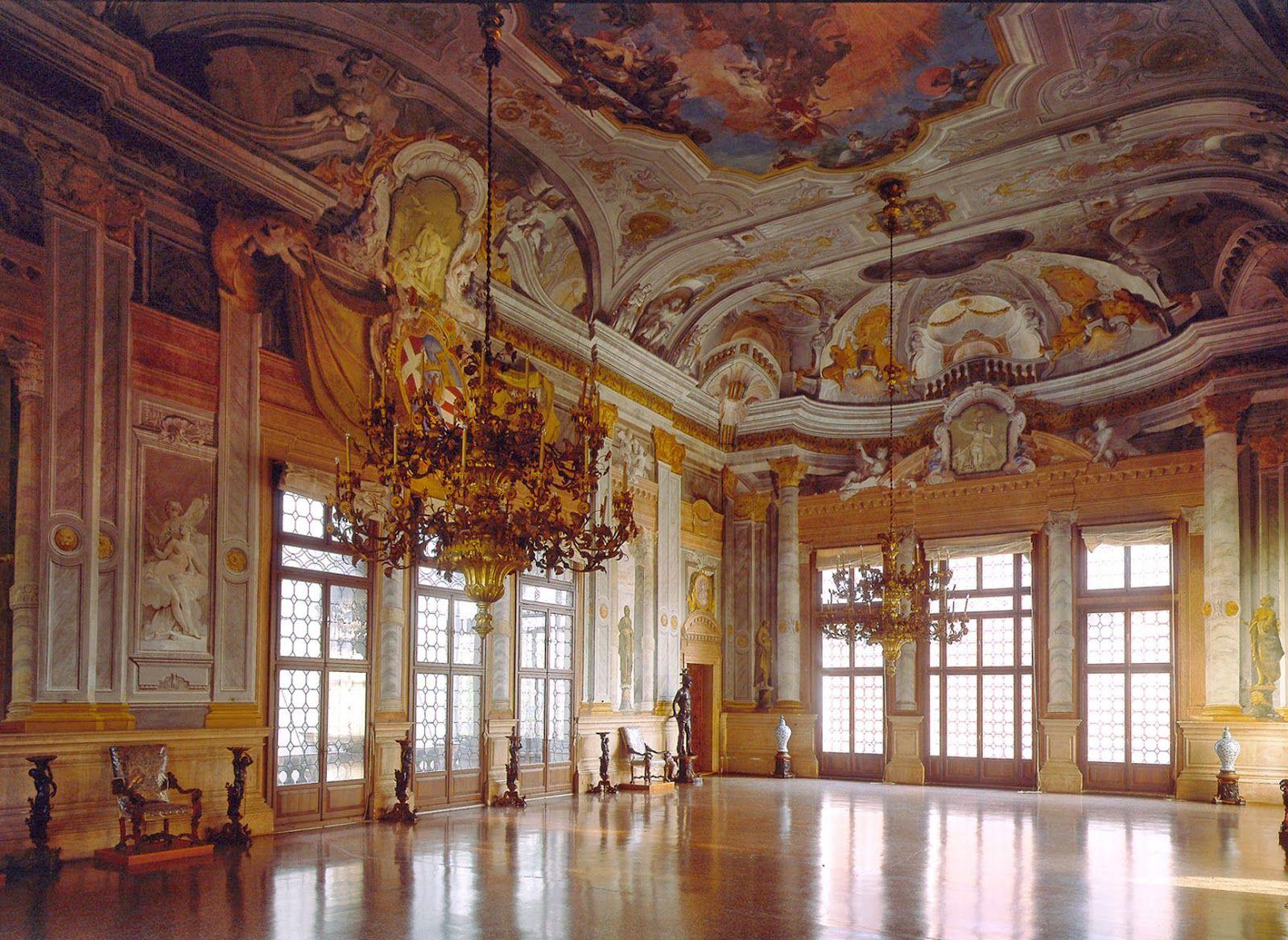 Ballroom, Ca' Rezzonico.   Salas de baile, Venecia, Interior de ...