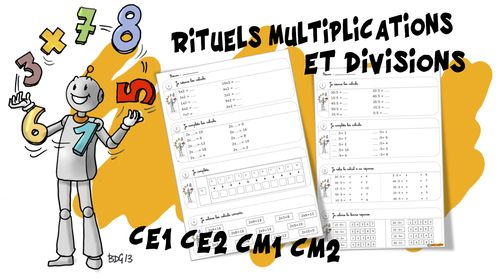 Rituels maths : multiplications et divisions | Exercice ...