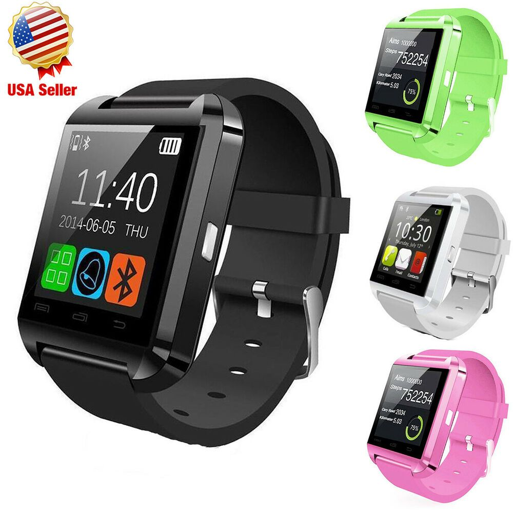 Bluetooth Smart Watch Wrist Phone Mate For IOS Android