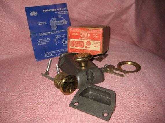 Vintage 1950s Corbin Lock Door Lock Night Latch New Old Stock Etsy Latches Vintage 1950s Vintage