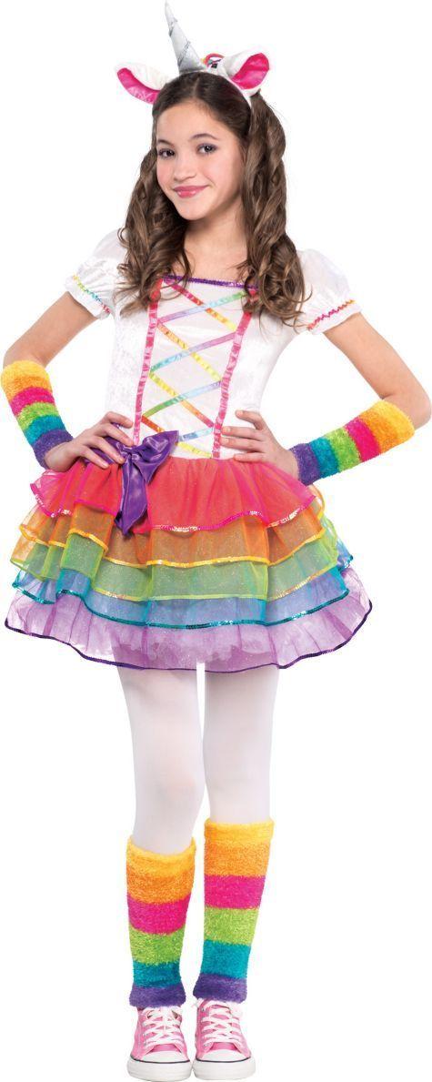 Girls Rainbow Unicorn Costume - Party City More  sc 1 st  Pinterest & Girls Rainbow Unicorn Costume - Party City u2026 | COSPLAY u2026