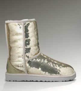 Silver sequins UGG Boots