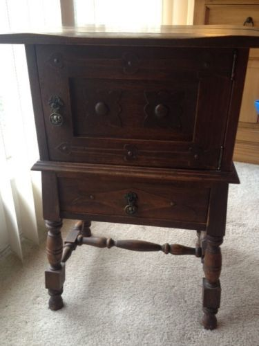 Antique Copper Lined Humidor Table (With Drawer).. #followitfindit ...
