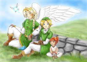 Zelda - Winged Ones - Family by LilleahWest. For anyone that has read Winged Ones, YAY! For those of you who have not, I would highly suggest you do!