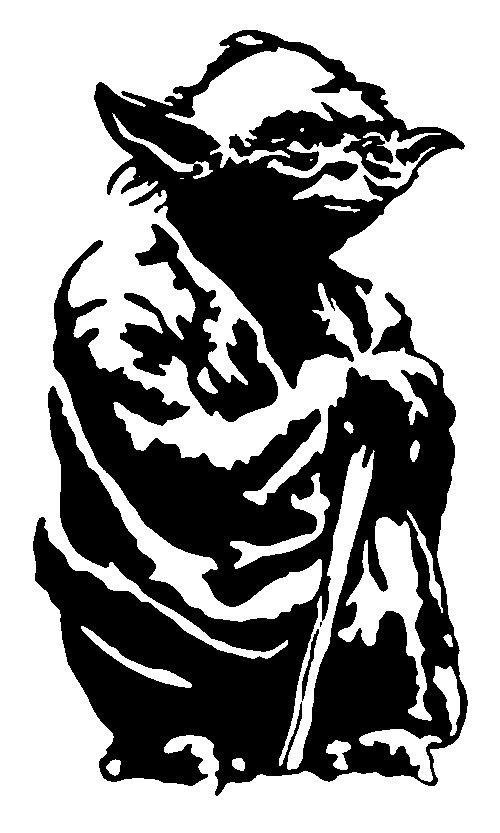 Star Wars Stencils Noir Blanc Papier Découpé Star Wars