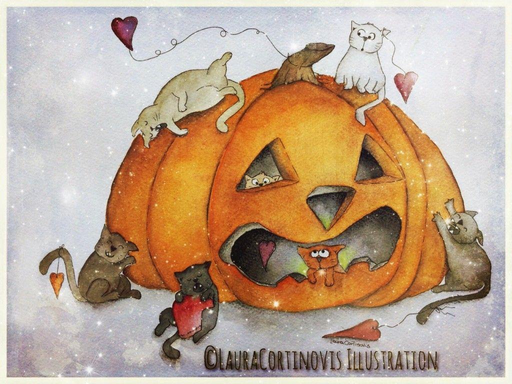 Segnaposto bambini ~ Disegni da scaricare gratis per halloween da colorare coi bambini
