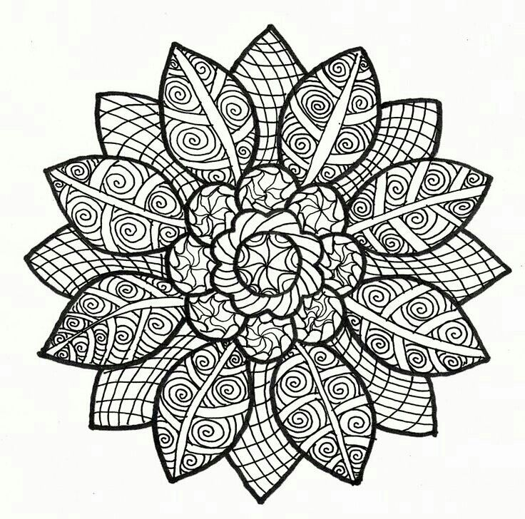 Zentangle Coloring Pages Mandala Coloring Pages Mandala