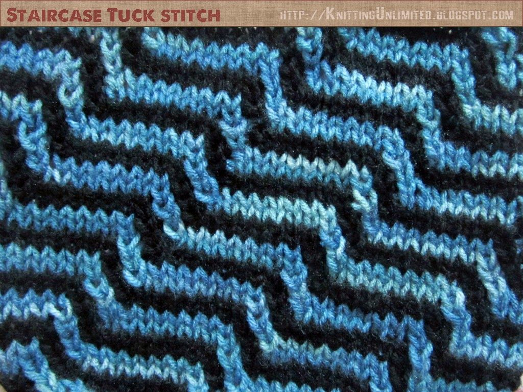 Use Of Tuck Stitch Methods to Create Staircase Effects | Knitting ...
