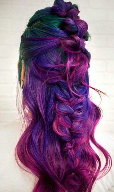 Purple pink dyed hair @my_lavish_looks