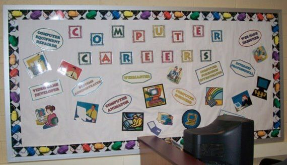 Computer Lab Decorations Elementary ~ Keyboarding bulletin board ideas decorating