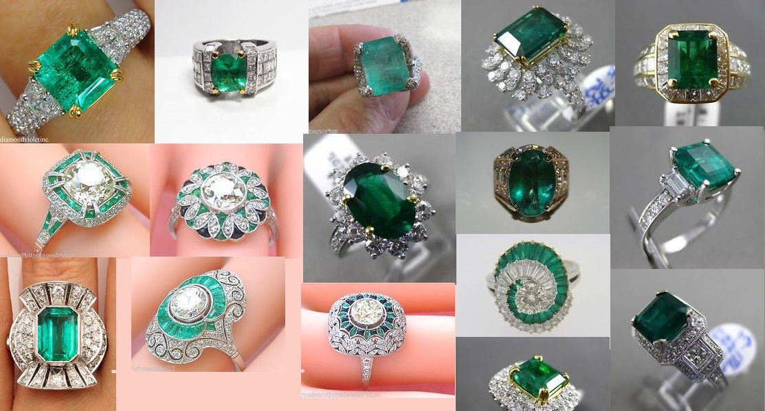fr jewelry ring estate rings lxrandco us vintage gold emerald en luxury owned pre large and diamond