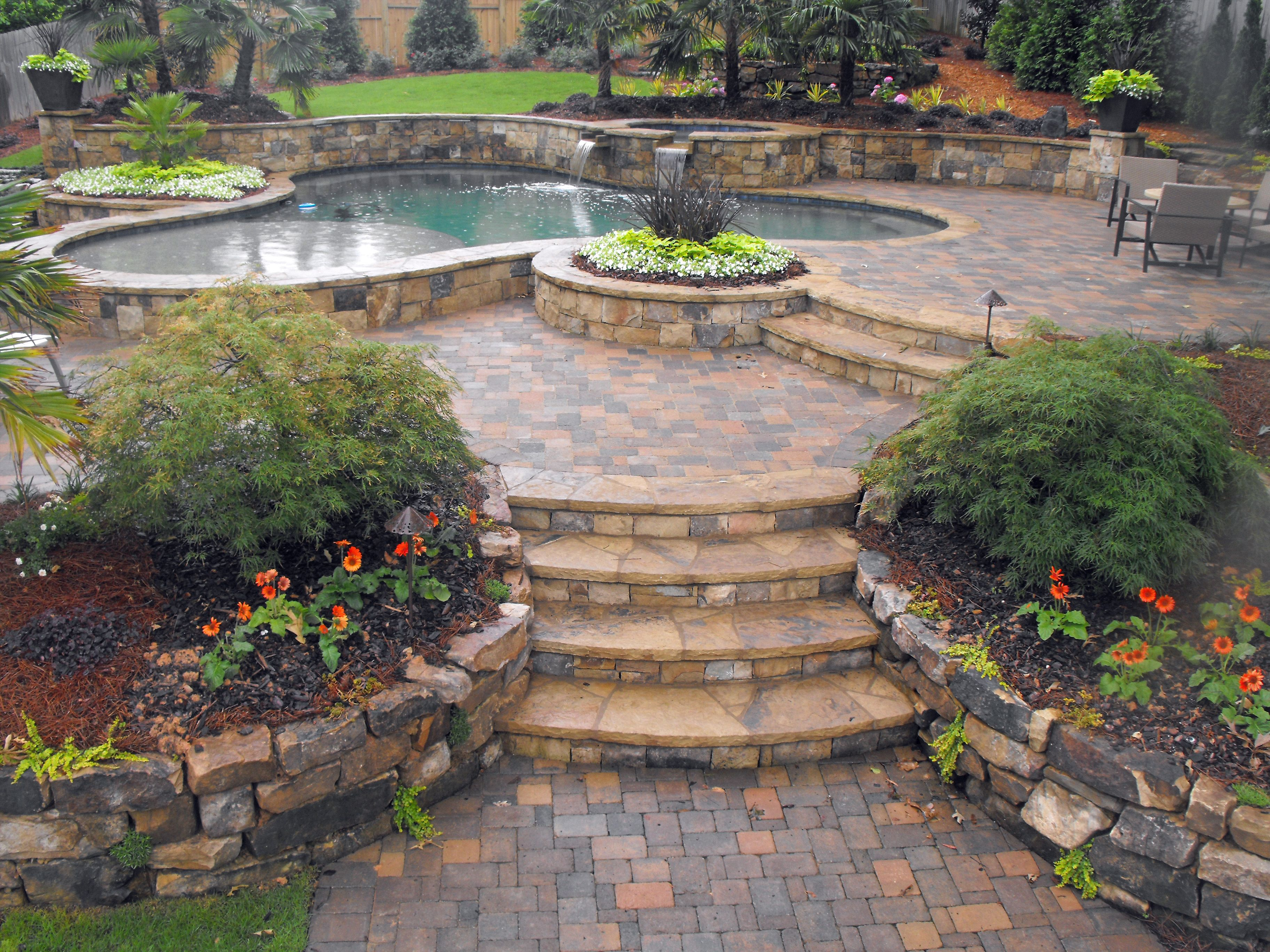 Backyard Hardscape Ideas large backyard patio design with pergola built in fire pit and seating wall 22 Best Images About Back Yard Ideas On Fire Pits Image Of Hardscape Ideas For Backyard