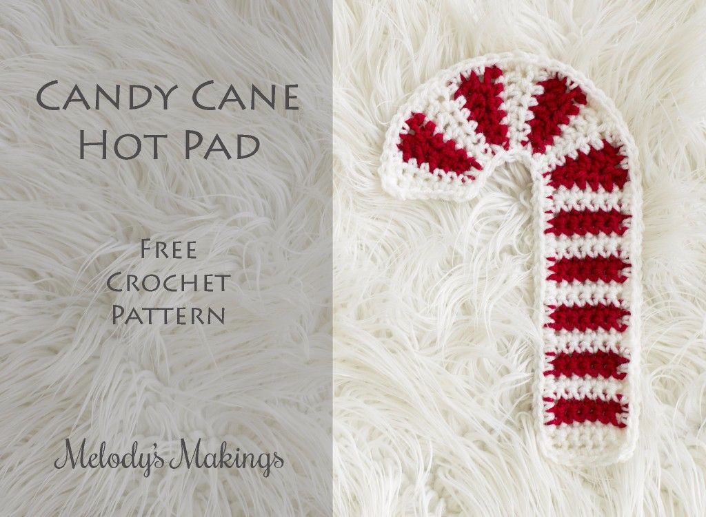Candy Cane Hot Pad Free Crochet Pattern | All Things Knit and ...