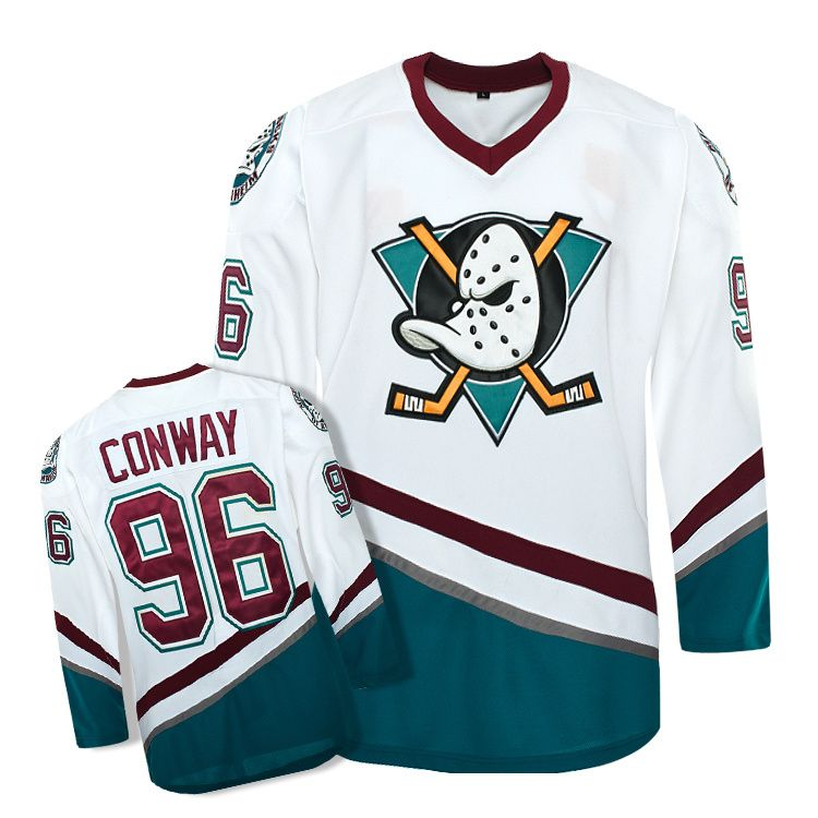 Mounttop Hommes de haute qualité Mighty Ducks Film Jersey  96 Charlie  Conway Hockey Jersey S c4073e525