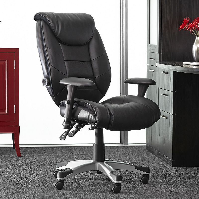 Sealy Posturepedic Memory Foam Desk Chair Black