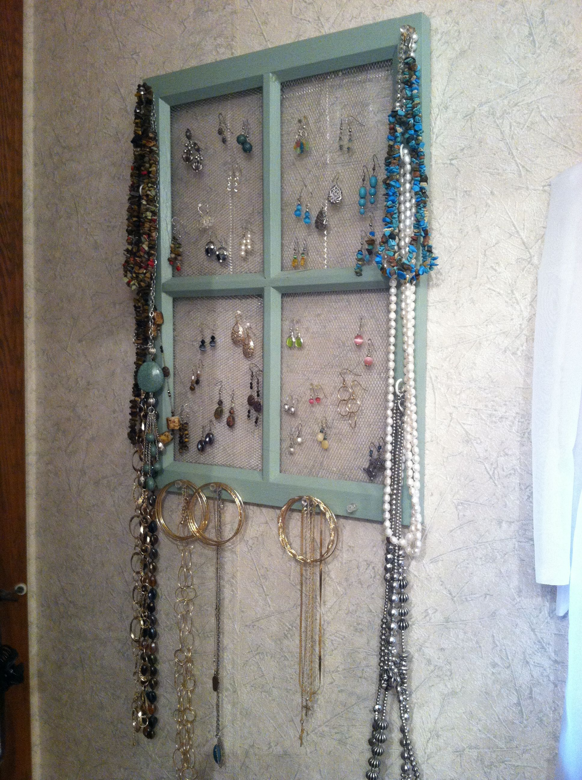 Window jewelry organizer Made Yet To Make Pinterest