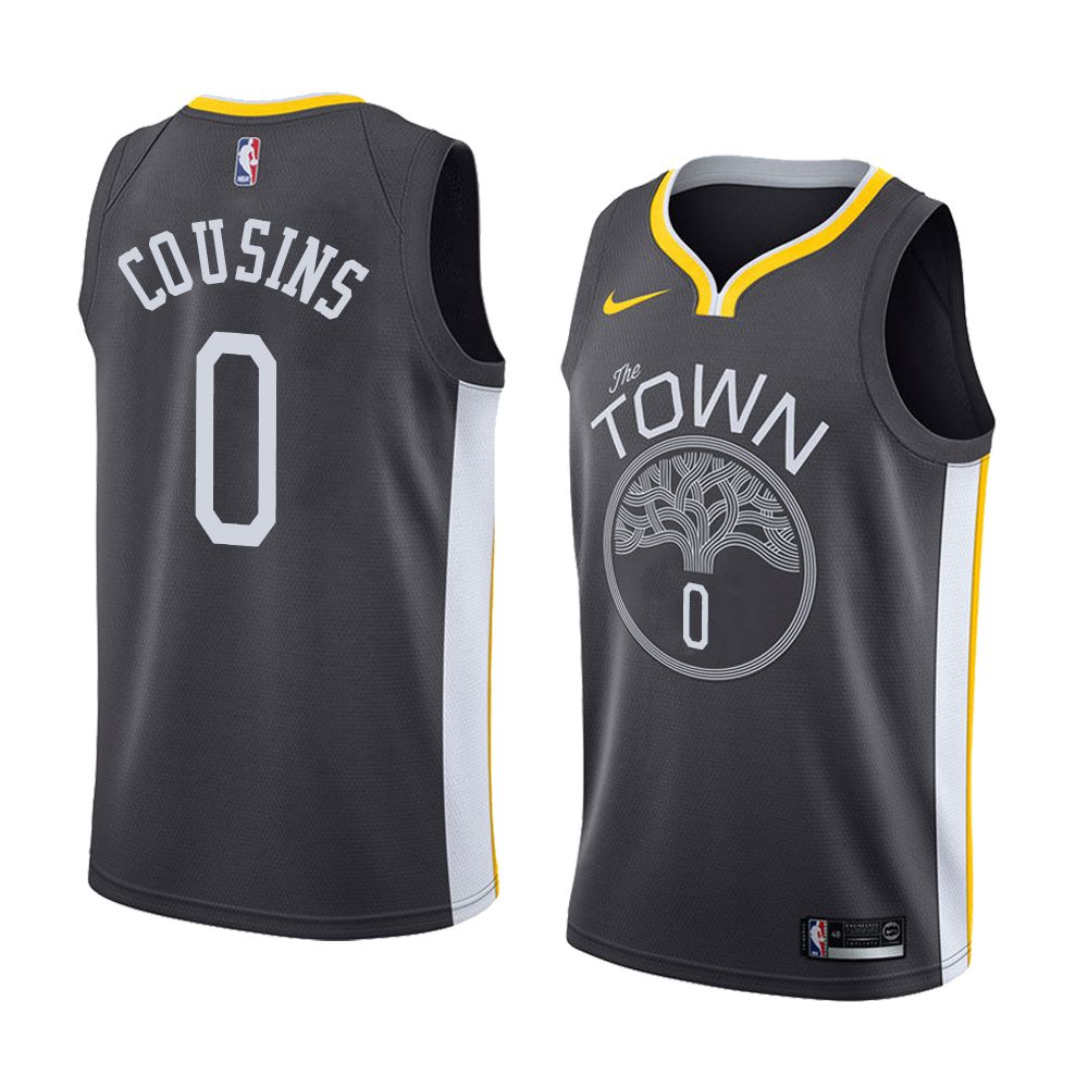 84de71e4a Men s 2018-19 golden state warriors  0 demarcus cousins black nike swingman  black demarcus cousins
