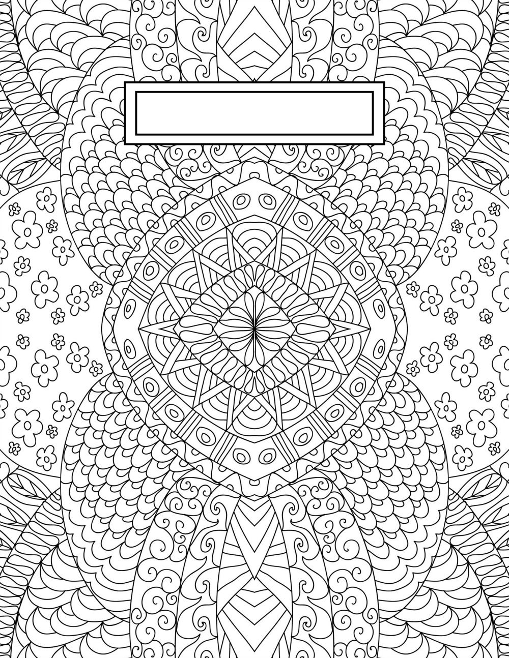 Back to School Binder Cover Adult Coloring Pages | bullet journaling
