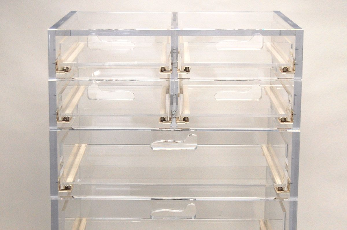 Lucite Acrylic Dresser Drawers Modern Furniture By