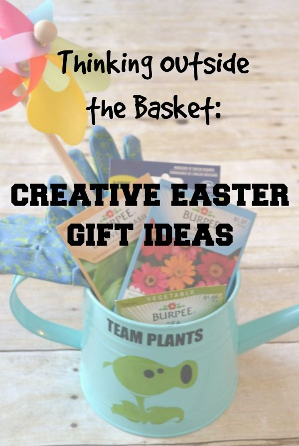 Creative alternatives to the traditional basket including a think beyond the traditional easter basket and give your goodies in a different kind of conatiner this year easter gift ideas and more negle Gallery