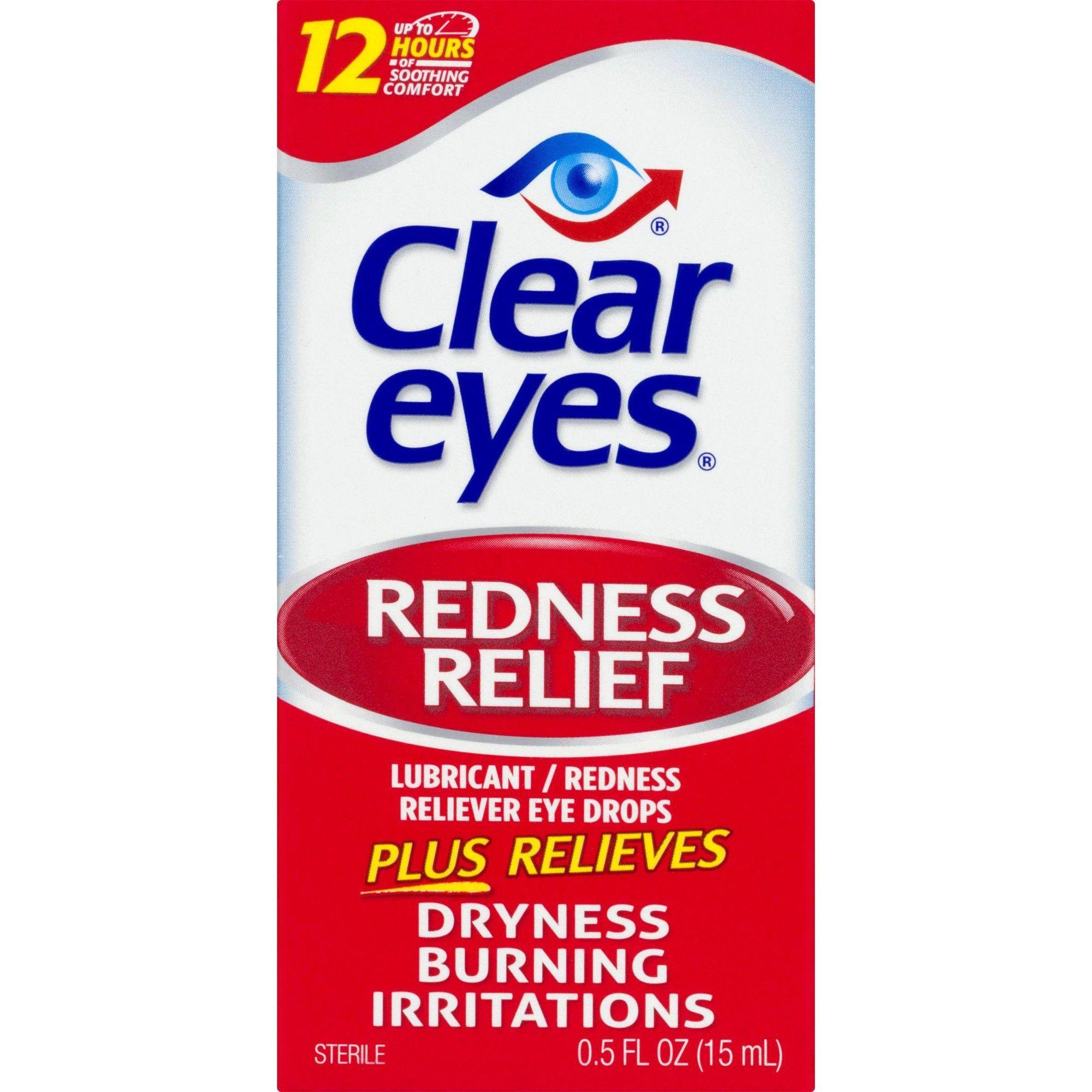 Clear Eyes Redness Relief Eye Drops 0 5 Fl Oz Clear Eyes Clear Eyes Drops Redness