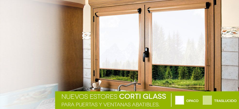 Estores enrollables corti glass en 2019 estores enrollables corti glass pinterest ventanas - Estores persianas ...