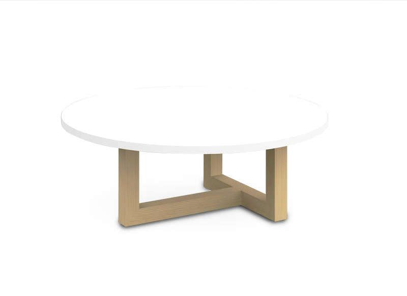 Table basse scandinave ronde Bass and Tables