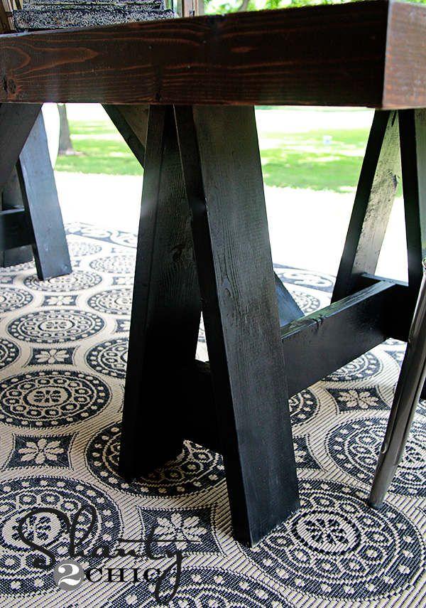Diy Table à Diner Pour La Terrasse Extérieure Outdoor Spaces