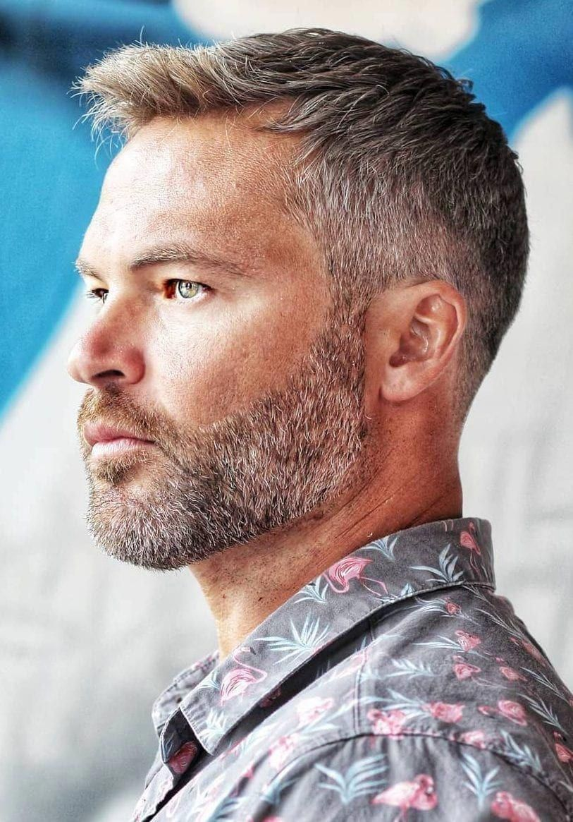 Great short hairstyles for men! #shorthairstylesformen  Grey hair