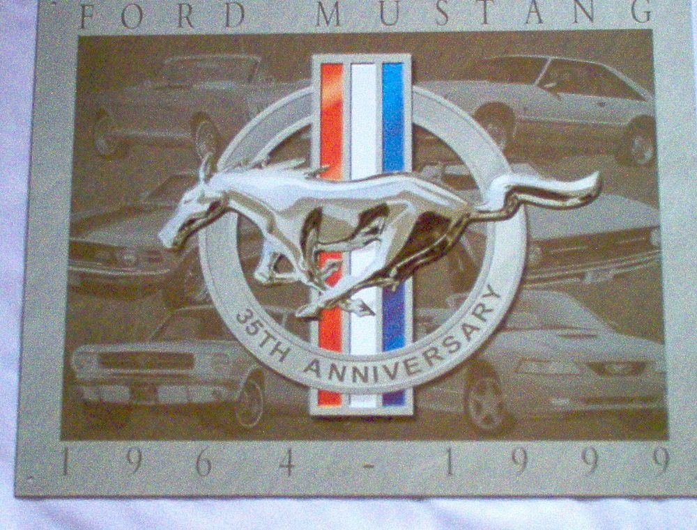 Details about Mustang 35th Anniversary #902 Repro Vintage Man Cave Garage Metal/tin